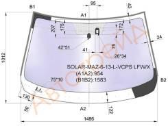 Стекло лобовое в клей MAZDA 6 4D/5D SED/WGN 12- XYG SOLAR-MAZ-6-13-L-VCPS LFW/X