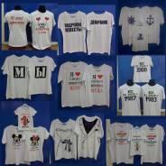 Парные семейные футболки! печать на заказ