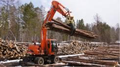 Doosan. Новый Перегружатель леса на базе колесного экскаватора S180W-V, 5 785 куб. см., 17 900,00кг.