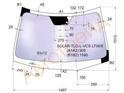 Стекло лобовое в клей HONDA ACCORD 08-/ACURA TSX 09- 4/5D SOLAR-TLO-L-VCS LFW/X XYG