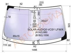 Стекло лобовое в клей AUDI Q5 2008-, переднее
