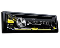 Автомобильный СD-ресивер JVC KD-R577 CD/USB/FM, MP3/WMA/WAV/FLAC, front AUX/USB, 4 RCA/SW, 50w x 4, изменяемая подсветка кнопок.