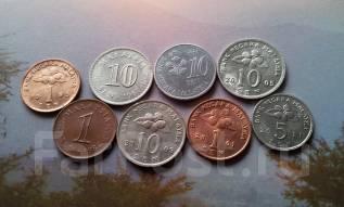 Малайзия. 8 монет без повторов. Разные года или типы.