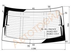 Стекло заднее (крышка багажника) с обогревом PEUGEOT 301 4D SED 14- XYG PE-301 RW/H/X