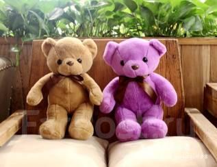Плюшевый медведь 40 см. цвет фиолетовый