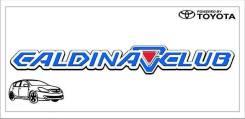 Табличка. Toyota Caldina