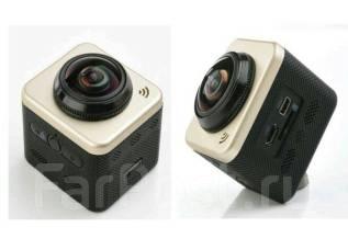 Экшен камера 360 градусов с WIFI , экшн видеокамера. 10 - 14.9 Мп, с объективом
