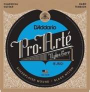 D`Addario EJ50 PRO ARTE Струны для классической гитары нейлоновые Hard