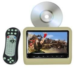 """Монитор 9"""" бежевый подголовник в АВТО DVD/USB/игры . Новый. Универ-ный"""