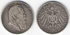 Юбилейные 3 марки 1911, Бавария, Германская империя