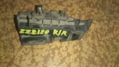 Крепление бампера. Toyota Corolla, CE120, CDE120, ZRE120, ZZE120, ZZE121, NZE120, ZZE123, NDE120 Двигатели: 1NDTV, 2ZZGE, 4ZZFE, 3ZZFE, 1CDFTV