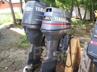 Yamaha. 60,00л.с., 2-тактный, бензиновый, нога X (635 мм)