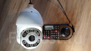 Поворотная камера видео наблюдение. 20 и более Мп, с объективом