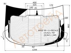 Стекло заднее (крышка багажника) с обогревом BMW F16 X6 5D 2015-