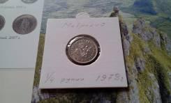 Маврикий. Четверть рупии 1978 года.