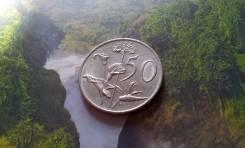 ЮАР. 50 центов 1983 года. Флора. Большая красивая монета!