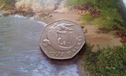 Гамбия. 1 даласи 1998 года. Крокодил. Большая красивая монета! Интерес