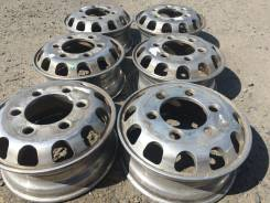 Комплект алюминиевых литых дисков на грузовик R17,5. 6.0x17.5, 6x222.25, ET135, ЦО 164,0мм.