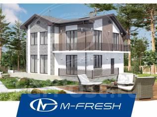 M-fresh Santa Monica-зеркальный (Проект 2-этажного дома с витражами! ). 200-300 кв. м., 2 этажа, 5 комнат, бетон