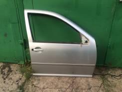 Дверь передняя правая Гольф 4 Бора Джетта 98-2005 Серебристый металлик