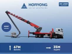 Horyong Sky. Коленчато - телескопическая автовышка, рабочая высота 67 метров, 67 м. Под заказ