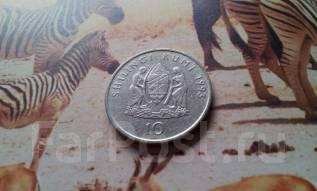 Танзания. 10 шиллингов 1993 года. Большая красивая монета!