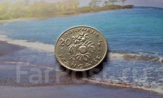 Французская Полинезия. 20 франков 1970 года. Флора.