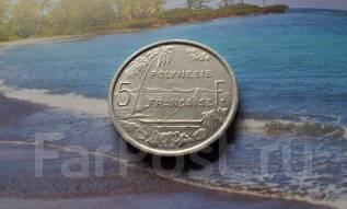 Французская Полинезия. 5 франков 1965 г. Большая красивая монета! Перв