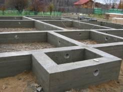 Строительство ленточных фундаментов.