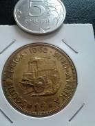 Нечастый один цент Южная Африка 1962 года