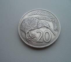 Новая Зеландия, 20 центов 1967 - птица Киви