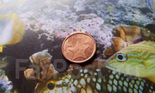 Экзотика. Багамы. 1 цент 2009 г. Морская звезда