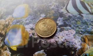 Экзотика. Сейшелы. 10 центов 2007 года. Рыба.