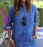 Рубашки джинсовые. 42, 44, 46