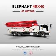Elephant 4R40. Бетононасос Elephant 40 метров, на шасси Isuzu, 2016 г., 40 м.