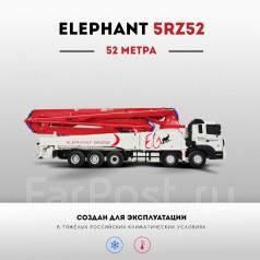 Elephant 5RZ52. Бетононасос Elephant 52 метра, на шасси Daewoo 2017 г., 52 м.