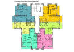 2-комнатная, улица Гагарина 51. 5-ый микрорайон, агентство, 66 кв.м. План квартиры