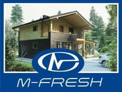 M-fresh Compact (Проект компактного дома с мансардой! ). 100-200 кв. м., 1 этаж, 3 комнаты, бетон