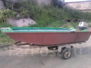 Продам моторную лодку. длина 3,20м., двигатель подвесной, 8,00л.с., бензин