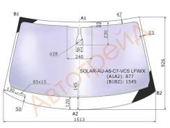 Стекло лобовое в клей AUDI A6(C7) SED/WGN 2012- XYG SOLAR-AU-A6-C7-VCS LFW/X
