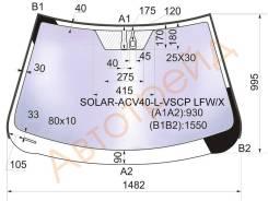 Стекло лобовое в клей TOYOTA CAMRY 2006- XYG SOLAR-ACV40-L-VSCP LFW/X