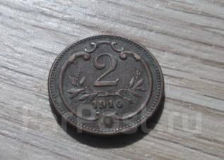 Австрия. 2 геллера 1910 г.