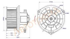 Мотор отопителя салона CHEVROLET AVEO 02- W A/C SAT ST-96539656