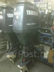 Yamaha. 100,00л.с., 4х тактный, бензин, нога X (635 мм), Год: 2004 год