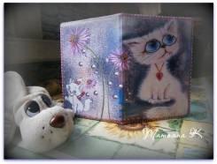 """Обложка на паспорт """"Кошечки"""""""