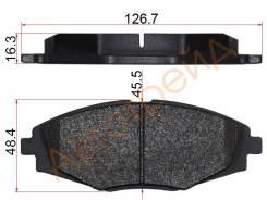 Колодки тормозные FR DAEWOO NEXIA 12- AKOK DG2104-XF