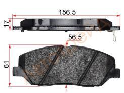 Колодки тормозные FR KIA SORENTO 09- HYUNDAI SANTA-FE 06- AKOK DG2119-XF