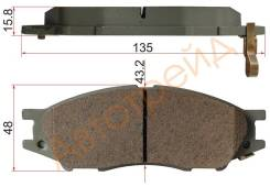 Колодки тормозные FR NISSAN MARCH K11/CUBE Z10/SUNNY B15 98-/BLUEBIRD G10 00-05 AKOK G1125-NF