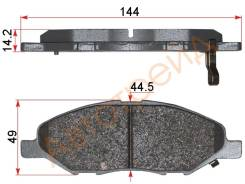 Колодки тормозные FR NISSAN TIIDA C11 06- JUKE F15 10- NOTE E11 05- AKOK G1130-NF