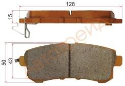 Колодки тормозные rr nissan patrol y62 10-/infiniti qx56 z62 10-, задний